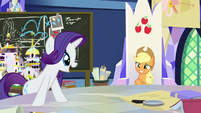 Rarity approves of Applejack's idea S9E4