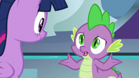 Spike -supposed to give her directions- S8E7