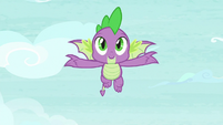 Spike flying through the air S8E24