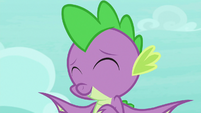 Spike nodding at Twilight S8E11