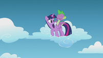 Spike telling Twilight not to interfere S5E25