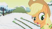 "Applejack ""awful strong for such a little pony"" S1E11"