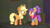 "Applejack ""we'd have a spoon clothes store"" S6E9"