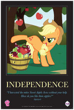 Applejack -Independence- poster from ComicCon 2012