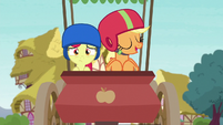 Applejack and Apple Bloom coasting on through S6E14