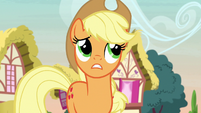 Applejack unsure about the contest at first S7E9