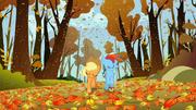 Applejack y Rainbow Dash corriendo justamente T1E13