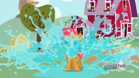Babs Seed jumps on a puddle S3E4