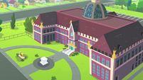 Bird's-eye view of Canterlot High School EGFF