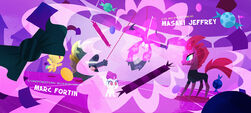 Candy surrounding Fizzlepop, Grubber and the Hippogriffs MLPTM