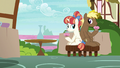 Coco Crusoe and Rainbow Stars hold their muffins S7E15.png