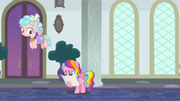 Cozy Glow flies over Rainbow Harmony S8E25