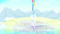 Crystal Castle shoots out a magic beam S6E2