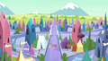 Mane 6 and Spike arrive in the Crystal Empire S4E25.png