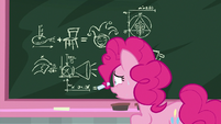 Pinkie writing equations with her mane S8E1
