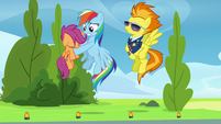 Rainbow Dash catches Scootaloo S8E20