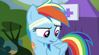 Rainbow Dash in pleasant surprise S6E7