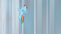 Rainbow Dash rising into the air S8E12