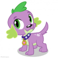 Rainbow Rocks Spike the Dog artwork.png