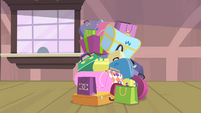 Rarity's last pile of bags S4E08