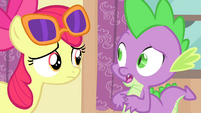 "Spike ""they had to go help Rarity get Sapphire Shores'"" S4E19"