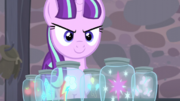 Starlight still has the Mane Six's cutie marks S5E2
