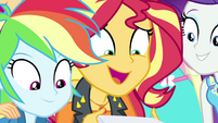 Sunset Shimmer overjoyed -and me!- EGFF