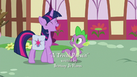 Twilight Sparkle laughing at Spike S9E16