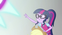 Twilight Sparkle reaching out for the mirror wall EGS3