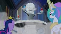 Twilight and Princess Celestia look at the Elements S4E2