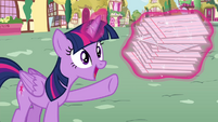 Twilight levitates flash cards S4E21