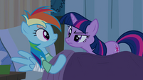 "Twilight scrutinizes ""sleeping"" Rainbow Dash S2E16"