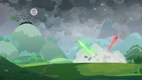 Wide view of the battle for Equestria S9E25