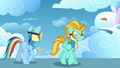 Animation error Rainbow Dash upper mane S3E07.png