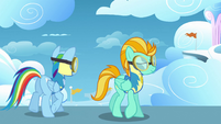 Animation error Rainbow Dash upper mane S3E07