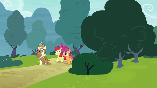 File:Apple Bloom, Scootaloo, Zipporwhill, and Ripley appear S7E6.png