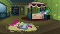 Apple Bloom trying to sleep on hay S3E04.png