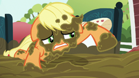 Applejack covered in mud S6E15
