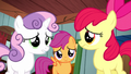 Cutie Mark Crusaders don't know what to do S5E6.png