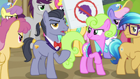 Diamond Cutter disparaging Rarity again S7E14