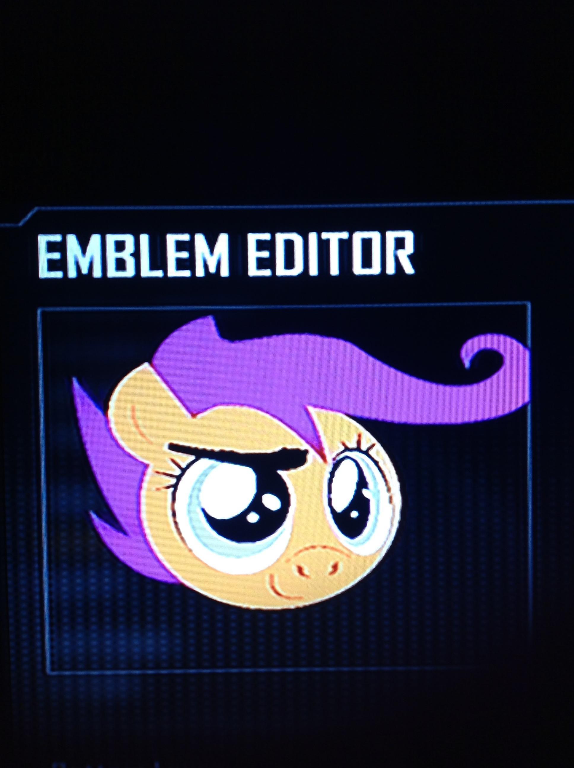 image fanmade scootaloo black ops 2 emblem jpg my little pony