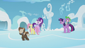 Fluttershy, Hoops, and Dumb-Bell walking away S5E25.png