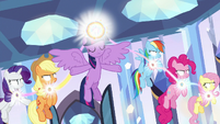 Mane Six channeling the Elements S9E1