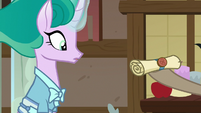 Mistmane presented with a scroll S7E16