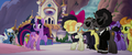 Ponies shocked by Songbird's messy jacket MLPTM.png