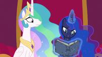 Princess Luna reads about the Pony of Shadows S7E25