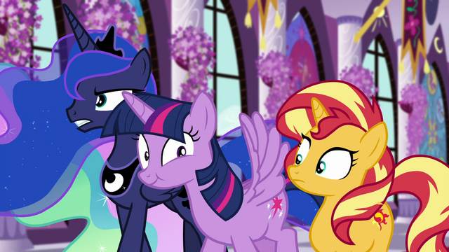 File:Princess Twilight smacks Sunset with her wing EGFF.png