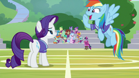 Rainbow Dash shouting -game on!- S8E17