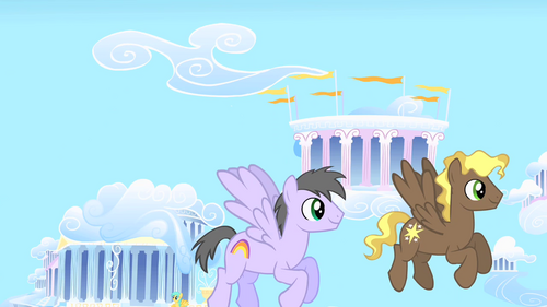 Rainbow Swoop and Compass Star flying S1E16
