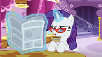 "Rarity ""contributed to the successful opening of Rarity For You"" S6E9"